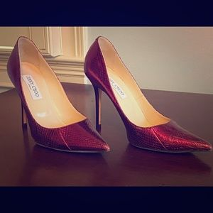 Gorgeous jimmy Choo red leather heels